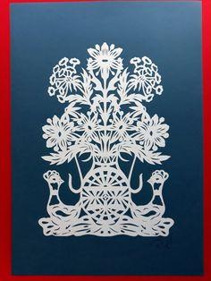 Cut Paper, Paper Art, Small Scissors, Papercutting, Lithuania, Art Work, Original Artwork, Art Pieces, Folk