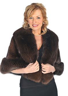 A stunning mink cape trimmed in luscious fox is a gorgeous finishing touch for every elegant event! Feel pampered and precious in this lovely fur wrap in a Winter Poncho, Poncho Coat, Fur Cape, Fur Clothing, Mink Fur, Fur Fashion, Fur Trim, Costume Design, Classic Style