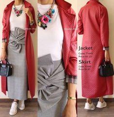 Skirt Hijab Cardigans New Ideas Skirt Hijab Cardigans New Ideas Abaya Fashion, Muslim Fashion, Modest Fashion, Skirt Fashion, Fashion Dresses, Casual Hijab Outfit, Hijab Dress, Casual Dresses, Moslem