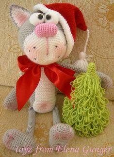Ravelry: Jenny The Bunny, Free Crochet P Haakpatroon - maallure Crochet Animal Amigurumi, Crochet Animal Patterns, Baby Knitting Patterns, Amigurumi Doll, Crochet Animals, Crochet Dolls, Christmas Knitting, Christmas Cats, Crochet Christmas