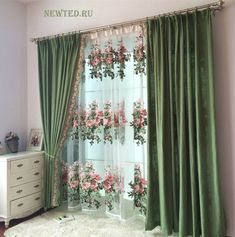Fancy Curtains, Rose Curtains, Shabby Chic Curtains, Colorful Curtains, Diy Curtains, Modern Curtains, Living Room Decor Curtains, Bedroom Decor, Cortinas Shabby Chic