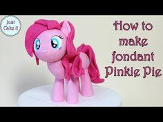 How to make fondant Pinkie Pie pony / Jak zrobić kucyka Pinkie Pie z masy cukrowej - YouTube
