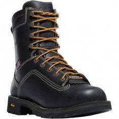 17311 Danner Men's Quarry Alloy USA Safety Boots - Black www.bootbay.com