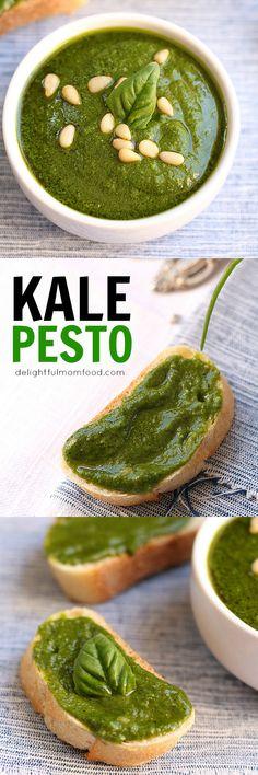 pesto pasta with kale pesto shrimp and tomato pasta with kale pesto ...