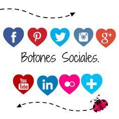 imagina y crea tu mismo: Como colocar iconos sociales en mi blog botones sociales para blogger