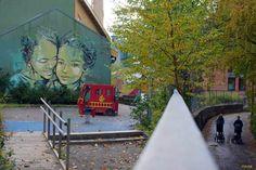 Oslo / Untitled by Alice Pasquini. Urban art in Vulkan Oslo, Urban Art, Alice, Fair Grounds, Hipster, Fun, The Neighborhood, The Originals, City Art