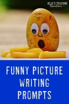 Funny Picture Writing Prompts | HoJo's Teaching Adventures Picture Writing Prompts, Writing Prompts Funny, Writing Prompts For Kids, Cool Writing, Writing Lessons, Kids Writing, Teaching Writing, Writing Ideas, Kindergarten Writing Prompts