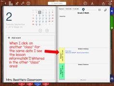 Mrs. Beattie's Classroom: iDoceo Planner Demystified!