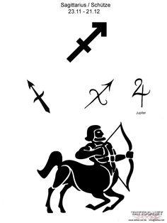 zodiac tattoos sagittarius | ... ASTROLOGY ZODiAC SAGITTARIUS TATTOO FLASH - Dövme Tattoo Piercing