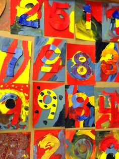 Expedition: Art: 5th Grade Jasper Johns Collaborative: Numbers