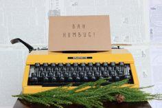 Brown Kraft Paper Christmas Card : Bah Humbug!