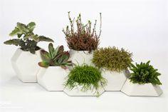 Macetas Cool geométricas de cerámica, se pueden combinar | diseño estudio Pott