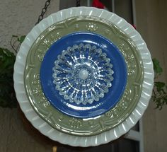 plate flowers  | ARTful] Salvage: New glass plate flowers listed on Etsy today!