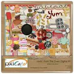 Digital scrapbooking kit for bakers! Groovy!
