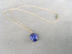 Tanzanite Prong Set Necklace