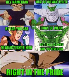 Sick burns here from Piccolo, fresh from hell