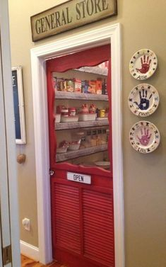 Replace The Pantry Door With A Screen Door To Add A . Home and Family Kitchen Redo, Kitchen Pantry, New Kitchen, Kitchen Ideas, Kitchen Cabinets, Kitchen Colors, Eclectic Kitchen, Kitchen Small, Kitchen Storage