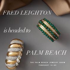 We are ready for this week's Palm Beach Jewelry Show. Come and view some of the most iconic Fred Leighton jewels from the past and present (or just to say hello). @palmbeachshowgroup