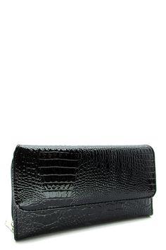 Black Textured Zipper Wallet   #DiscountedPalace #ZipAround