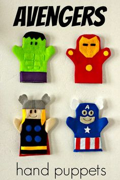 Just Another Day in Paradise: Project Handmade Christmas Presents: Avengers Hand Puppets