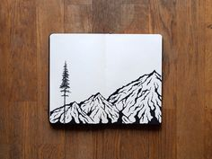 Mountain sketch by Christopher Perry