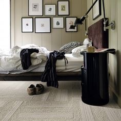 A visually interesting solid with subtle furrows of texture in a plush cut and loop pile. The textural pattern is random from tile to tile and will not always align, so no two tiles are alike. #florptw