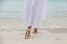 Free Shipping  Pearl Beadwork Wedding Barefoot by Fundem on Etsy, $32.00