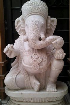 Ganesh: Ganesha's upraised hand, depicting protection, means, 'Fear not, I am with you', and his lowered hand, palm facing outwards means endless giving as well as an invitation to bow down, this is symbolic of the fact that we will all dissolve into earth one day.