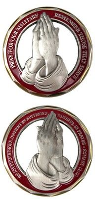 Challenge Coin - Pray For Our Military Coins/Medallions Military Memes, Military Gifts, Military Spouse, Military History, Military Challenge Coins, Military Retirement, Honor Guard, Military Insignia, Support Our Troops