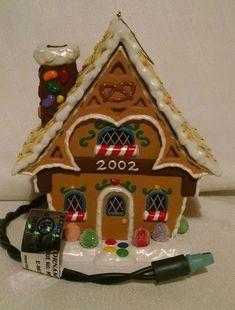 697413471e64ad Gingerbread Cottage House Magic Light Ornament Hallmark 2002 Ornament