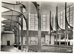 Sainte-Bernadette church, Dijon, Jospeh Belmont/Jean Prouve, 1960-63