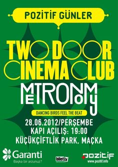 Two door cinema club metronomy poster for Pozitif.