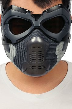 Xcoser Winter Soldier Mask Bucky Eye Face Mask Props for Adult Halloween Winter Soldier Mask, Armas Ninja, Cool Optical Illusions, Breathing Mask, Star Wars Outfits, Cool Masks, Tactical Clothing, Body Armor, Hunting Gear