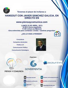Cartel Hangout con Javier Sánchez Galicia