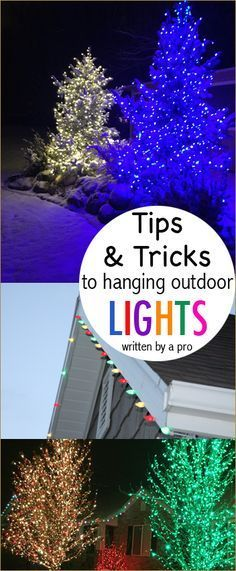 Tips and Tricks to hanging Christmas Lights. Hang Christmas lights like a professional. Written by a man who knows his stuff! How to hang rooflines correctly.