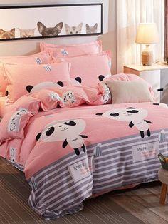 Ideas for Decorating a Bedroom in a Panda Theme Cute Bedroom Decor, Bedroom Themes, Teen Bedroom, Duvet Bedding, Bedding Sets, Kawaii Bedroom, Deco Studio, Girl Room, Bed Sheets