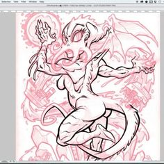 """Yet another bit of time-lapse inking for my CTHULHIÄ (Cthulhu pinup) design. The final design can be found on shirts, prints and more at DesignByHumans.com and Society6.com by searching """"CTHULHIÄ"""". Digital inks in Clip Studio Paint on my Yiynova tablet monitor. You can also see the full video by searching """"Cthulia digital inks"""" on YouTube. - Music is """"Rise"""" by Gamma Ray. - #cthulhu #hplovecraft #lovecraft #pinup #beastwreckinkingvideo #cthulhiä"""