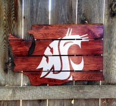 Recycled Pallet Washington State Cougars by IronBarkDesigns, $75.00 @Andrea / FICTILIS Noren