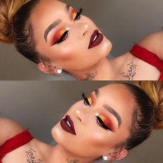 Find what you love and let it set your soul on fire @jassmich used the 35O and 35B palettes for this warm and smoldering eye look. Join #TeamMorphe