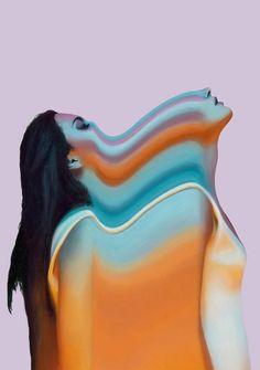 Colorful Glitch Portraits by Joshua Davidson – Fubiz Media Don Du Sang, Costume Africain, Arte Obscura, Psy Art, Montage Photo, A Level Art, Glitch Art, Art Graphique, Psychedelic Art