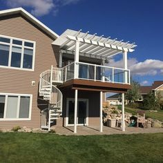 This was a deck completed in 2015 that solved a southern exposure problem as well as giving a access to the backyard with limited room for stairs
