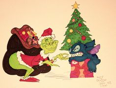 How the Grinch Tried to Steal Stitch's Christmas by DannyNicholas.deviantart.com on @deviantART