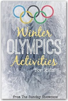 Winter Olympics Activities for Kids-great links to some good printable! Matching, what is different, etc.