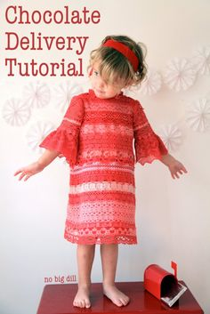 no big dill: Chocolate Delivery Lace Dress Tutorial Dress Tutorials, Sewing Tutorials, Sewing Ideas, Sewing Crafts, Diy Crafts, Sewing For Kids, Baby Sewing, Chocolate Delivery, Sewing Projects For Beginners