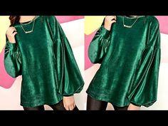 Abaya Fashion, Diy Christmas Gifts, Upcycle, Sewing Patterns, Stitching, Tunic Tops, Velvet, Womens Fashion, Youtube