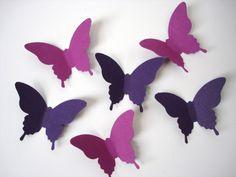 25 Mixed Purple Elegant Butterfly die cut by BelowBlink on Etsy, $1.50