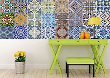 Backsplash Tile Stickers 24 PC Set Authentic Traditional Talavera Tiles Stickers Bathroom & Kitchen Tile Decals Easy to Apply Just Peel and Stick Home Decor Inch (Bathroom Tile Stickers Tile Decals, Vinyl Tiles, Wall Stickers Murals, Diy Stickers, Wall Decal Sticker, Wall Tiles, Backsplash Tile, Vinyl Decals, Kitchen Decals