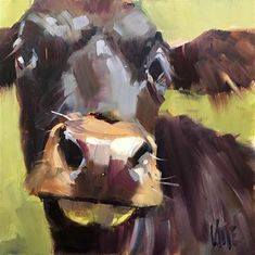 "Daily Paintworks - "" Settling In"" - Original Fine Art for Sale - © Patty Voje Cow Painting, Painting & Drawing, Farm Art, Cow Art, Cool Art Drawings, Animal Sketches, Art Auction, Fine Art Gallery, Animal Paintings"