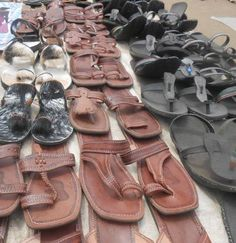 maasai sandals made of leather and tires