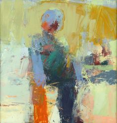 Henry  Jackson - Henry Jackson at Seager Gray Gallery shows Untitled 1077 a painterly abstract figure in oil and cold wax.